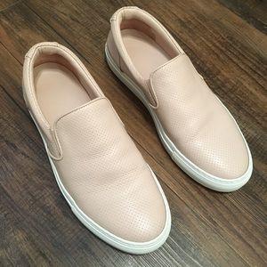 GREATS Women's Blush Pink Slip On Sneakers